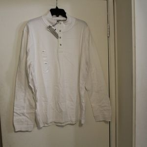 Calvin Klein Long Sleeve Shirt XXL White